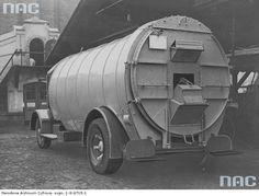 Śmieciarka na podwoziu ciężarówki Mercedes, Warszawa 1937 r.