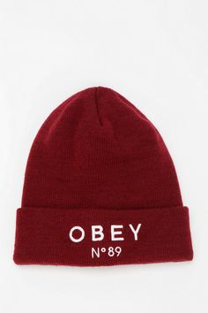 6939cbabd20 OBEY X UO Pearse Beanie - Urban Outfitters Cool Beanies