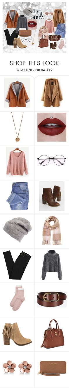 """Let It Snow!"" by courtneyscott-3 on Polyvore featuring WithChic, Native Gem, Taya, Timberland, Rebecca Minkoff, Miss Selfridge, Yves Saint Laurent, Liana Clothing, Uniqlo and ALDO"