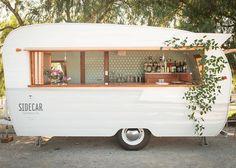 Vintage trailer bar.