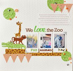 You can use these animal print washi tapes from Queen & Co. to add flair to any of your zoo layouts! Layout designed by Ginger Williams.