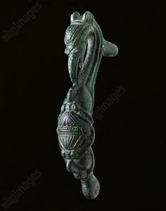 Celtic bronze fibula, Pilsen, 5th century BC