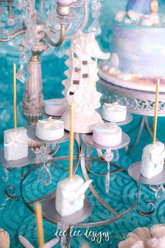 Kara's Party Ideas Mermaid + Under the Sea Bridal Shower Mermaid Bridal Showers, Bridal Shower Games, Mermaid Party Decorations, Mermaid Parties, Joint Birthday Parties, Mermaid Under The Sea, Wedding Favors Cheap, Mermaid Birthday, Personalized Wedding