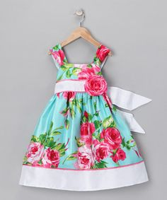 Garden Party: Darling Dresses | Daily deals for moms, babies and kids -- now this is a time that the size of the rose is ok because it matches the print.