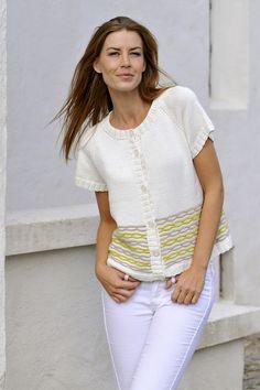 Smuk kortærmet trøje med kædemønster
