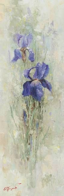 """""""Irises in the Garden"""" by Oleg Trofimoff, Moscow // Imagekind.com -- Buy stunning, museum-quality fine art prints, framed prints, and canvas prints directly from independent working artists and photographers."""