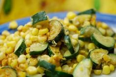 Calabacitias (New Mexican zucchini and corn dish).......vegetable medley ; real vegetarian fair,,,the elegant natural melding of a few dissimilar offerings..........peas and corn,  peas and carrots , green beans and mushrooms, tomatoes and bread , new potatoes and snow peas , cucumbers and onions.........on.and on