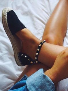 Studded espadrilles...it's all in the little details!
