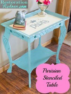 Parisian Painted Side Table - Restoration Redoux http://www.restorationredoux.com/?p=8356
