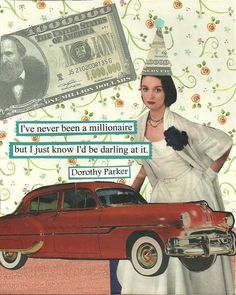 A Darling Millionaire Greeting Card by MicheleLittlefield on Etsy