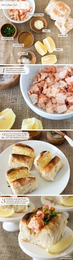 Tea Sandwich: Mini Lobster Roll - Oh, How Civilized! Badass Billy will offer these tasty treats to the Brides at the Wedding Garden! With siracha! Seafood Recipes, Cooking Recipes, Tea Recipes, Copycat Recipes, Tapas, Tea Sandwiches, Finger Sandwiches, High Tea, I Foods