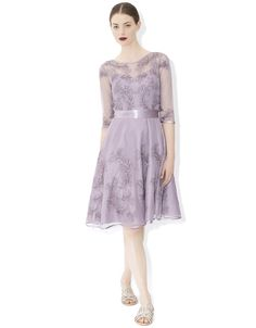 Isabel Feather Dress | Purple | Monsoon