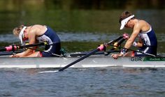 Rio Olympics: Highs and lows from day four:   Great Britain fails to clear -   Charlotte Taylor and Katherine Copeland of Great Britain react after failing to qualify for the next round in the Women's rowing pair repechage heat.