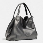 Coach :: EDIE SHOULDER BAG IN METALLIC LEATHER