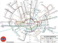 The latest alternative radial Tube map from Maxwell Roberts (via @girvine)