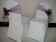 A different way to tie chair sashes. For the bride that hates chair sashes! Wedding Prep, Wedding Show, Our Wedding, Wedding Ideas, Chair Bows, Chair Sashes, Wedding Chair Decorations, Wedding Chairs, Banquet Tablecloths
