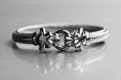 100% Made in Italy  Silver bracalets Black colour