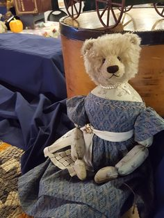 Dolly bear by Joel Hoy Peggy Fleming, Love Bear, Teddybear, Den, Bears, Cottage, Dolls, Friends, Animals