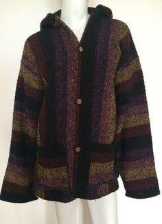 Kaufe meinen Artikel bei #Kleiderkreisel http://www.kleiderkreisel.de/damenmode/pullis-and-sweatshirts-hoodies/123674288-oversize-strickjacke-hoodie-cardigan-xl-schwarz-bunt-mexico-ethno-hippie-goa