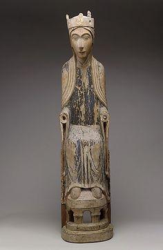 gallarusarts:  Romanesque Wood Madonna from the Metropolitan Museum of Art