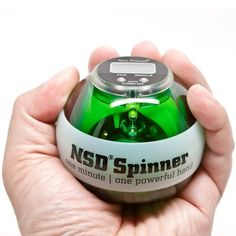 NSD Power Winners Lit Spinner Gyroscopic Wrist and Forearm Exerciser Featuring Digital LCD Counter and LED Light, Green by NSD Powerball. $38.95. Work away repetitive stress with our Spinner This low-impact exercise will help alleviate and potentially prevent painful carpal tunnel syndrome by improving strength in the wrist and forearm, while improving circulation and blood flow to promote healing in your stressed tendons and muscles. and it's fun to do while sittin...