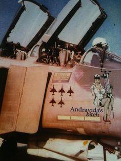Andravida's bitch - HAF Fighter Pilot, Fighter Aircraft, Fighter Jets, Military Jets, Military Aircraft, The Art Of Flight, Hellenic Air Force, War Jet, F4 Phantom