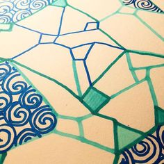 #detail of #artwork i did today. A bit of #geometrical shapes and some #spirals  - artwork by Charles Bridge 7x