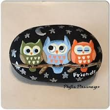 Image result for painted owls on rocks