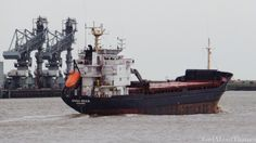 General cargo ship Dyna Bulk heads past Gravesend at the weekend
