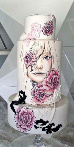 Sophia Fox Fondant Cake Designs, Fondant Cakes, Cupcake Cakes, Gorgeous Cakes, Pretty Cakes, Amazing Cakes, Unique Cakes, Creative Cakes, Airbrush Cake