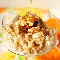 The Professional Palate - overnight brown rice breakfastpudding.  Doesn't this look amazing?