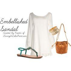 Summer Shoe Trend | Embellished Sandal #DSWShoeHookup #PintoWin