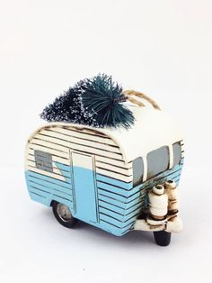 Camper Ornament, Blue