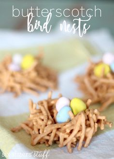 only butterscotch and or p.b. chipsButterscotch Bird Nests from SixSistersStuff.com