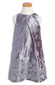 Frais 'Flock' Satin A-Line Dress (Toddler Girls, Little Girls & Big Girls) available at #Nordstrom