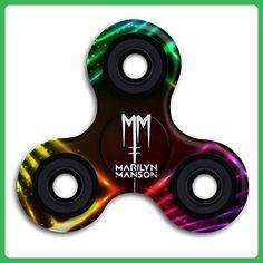 Marilyn Manson Band Logo Fidget Spinner Stress Reducer Toys Tri-Spinner Hand Toy Finger Gyro - Fidget spinner (*Amazon Partner-Link)
