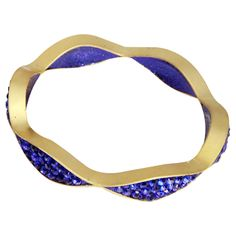 Joi Bangle in Electric Blue // I love the undulating waves... so stunning! Want it now! #jewelrydesign