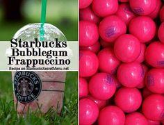 Starbucks Secret Menu: Bubble Gum Frappuccino