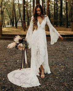 Aline Wedding Dress Lace, Boho Wedding Dress With Sleeves, Lace Bridal, Sweetheart Wedding Dress, Bohemian Wedding Dresses, Dream Wedding Dresses, Lace Dress, Dresses With Sleeves, Wedding Flowers