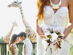 Giraffe safari wedding by Kay English Photography NJ with Sarah Seven golden lights wedding gown at The Ashford Estate