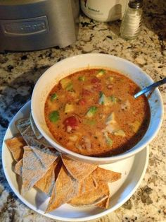 Taco Soup - a creamy, dreamy Trim and Healthy soup!