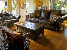 Wohnzimmer einrichten, Sofas im Kolonialstil