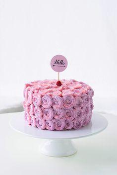 Poppytalk: Rose Buttercream Cake Tutorial by Coco Cake Land