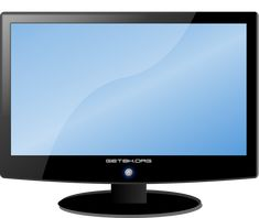 A monitor or a display is an electronic visual display for computers. House Clipart, Flower Art Images, Lcd Television, Digital Paper Free, Visual Display, Barbie House, Computer Wallpaper, Photo Backgrounds, Dollhouse Furniture