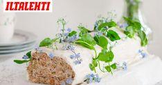 Tänä keväänä voileipäkakku kääritään vaihteeksi kääretortun muotoon. Feta, Dairy, Cheese