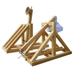 Do you enjoy building things? How about classic medieval things? If so, the Wooden Catapult and Trebuchet Kits are perfect for you. Take your time and enjoy Woodworking For Kids, Woodworking Projects, Fun Projects, Wood Projects, Office Warfare, Build A Table, Build A Playhouse, Maker, Geek Out