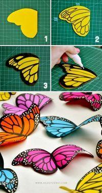 Dandoles a los niños las plantillas de las alas de la mariposa podrán desarrollar la precisión, si , por otro lado se les dejase total libertad estimulariamos su creatividad.