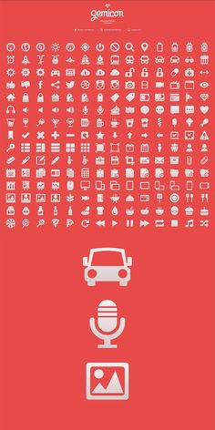 Gemicon - 600+ free icons