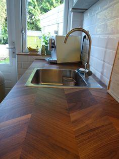 Barkaboda countertop/ werkblad walnut /walnoot Ikea
