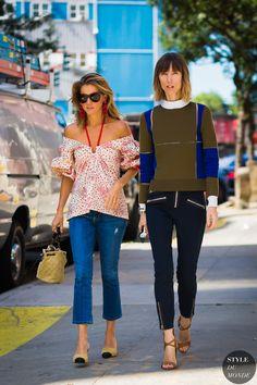 Marina Larroude and Anya Ziourova by STYLEDUMONDE Street Style Fashion Photography